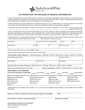 authorization to release medical records