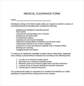 authorization to release medical records medical clearance form download in pdf