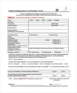 authorization to release medical records new patient medical form