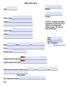 auto bill of sale pdf jackson county bill of sale x