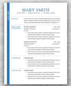 auto biography outline modern resume for college student
