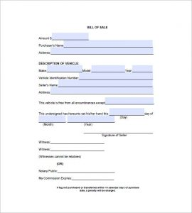 automobile bill of sale pdf automobile bill of sale template pdf