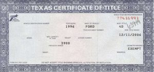automotive bill of sale template texas car title