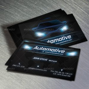 automotive business cards design