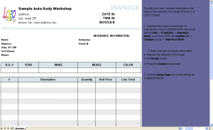 automotive repair invoices automotive repair invoice template