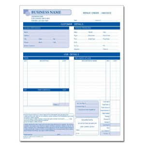 automotive repair invoices dnp