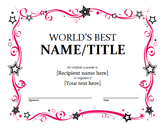 Ms Publisher Award Certificate Template Image Collections Award Certificate  Template Free Template Business Award Certificate Template  Ms Publisher Certificate Templates