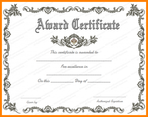 Award Certificate Template Free Award Certificates Templates Word