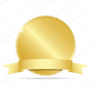 award ribbon template depositphotos stock illustration blank gold label