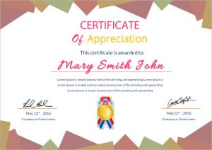 award templates free appreciation certificate template