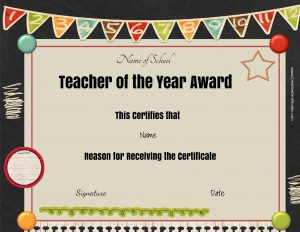 award templates free teacher appreciation