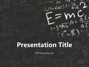 awesome powerpoint templates einstein physics ppt template