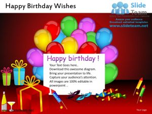 awesome powerpoint templates happy birthday wishes powerpoint ppt slides