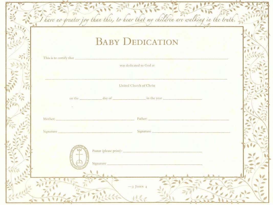 christening certificates templates free - baby dedication certificate template business