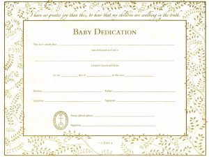 baby dedication certificates baby dedication certificate template word