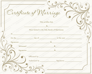 baby dedication certificates creamy gray marriage certificate template