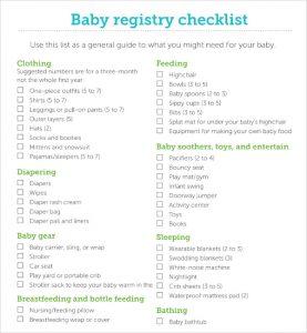 baby registry checklist printable baby registry checklist