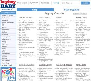 baby registry checklist untitled