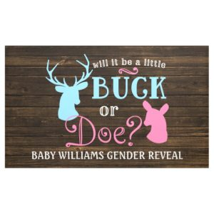 baby shower banner template buck or doe gender reveal party baby shower banner racccfeaadcbfcbdab jjhi