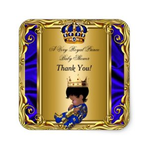 baby shower banner template thank you prince royal blue baby shower regal gold square sticker rfaeaaccbdb vwf byvr