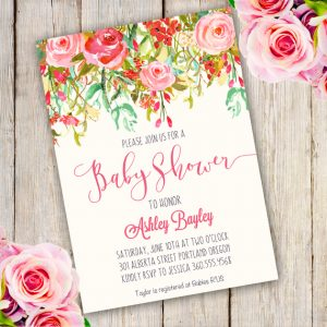 baby shower card printable card