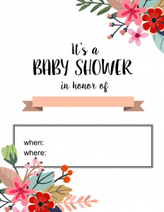 baby shower card printable shower