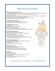 baby shower check list baby shower checklist
