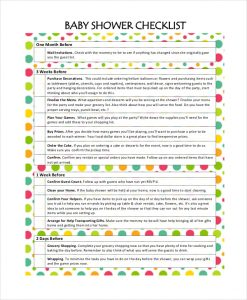 baby shower check list simple baby shower checklist
