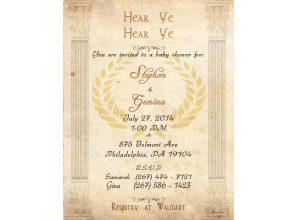 baby shower flyer invitation flyer