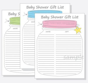 baby shower gift list il xn owsk