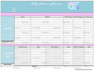 baby shower gift tracker il xn