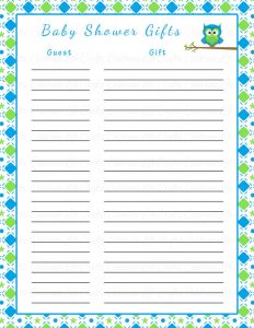 baby shower gift tracker il xn erkb