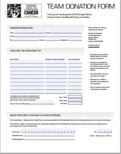 babysitter information sheets donation form