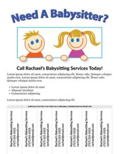 babysitting flyer ideas free babysitting flyer demo