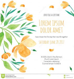 bachelorette invitations template invitation bridal shower card orange flower vector template invitations flyers postcards cards