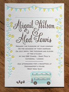 bachelorette invitations template whimsical bunting bus wedding invites