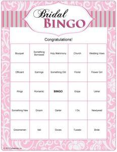 bachelorette itinerary template bridal bingo