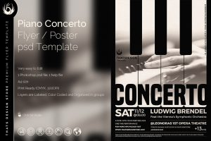 band flyer template piano concerto flyer template o