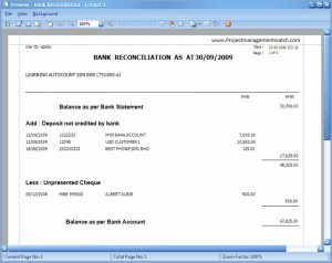bank reconciliation template bank reconciliation statement format