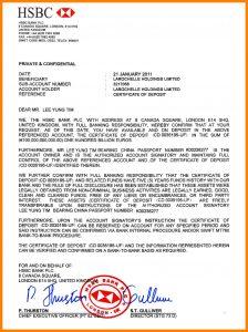 bank statement template bank guarantee hsbc hsbc london b confirmation letter larochelle holdings limited
