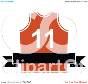 banner template free clipart of a blank black banner over an orange basketball jersey royalty free vector illustration