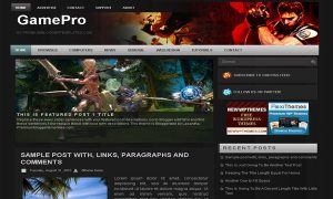 banner template word gamepro blogger template