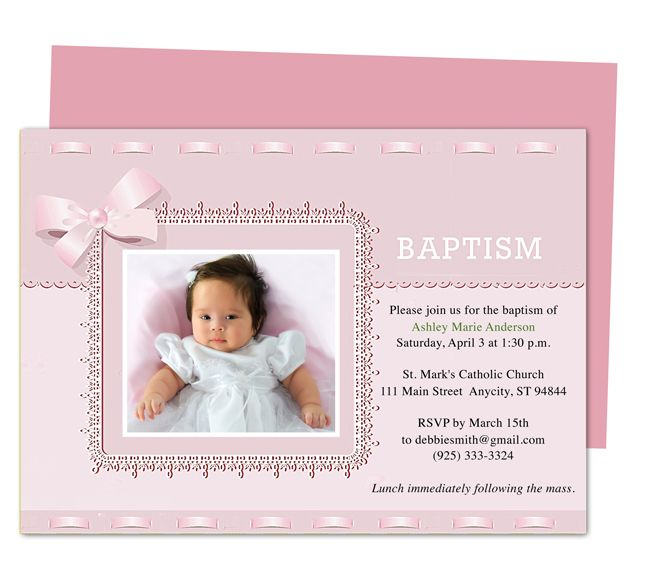 Baptism invitation template template business baptism invitation template stopboris Gallery