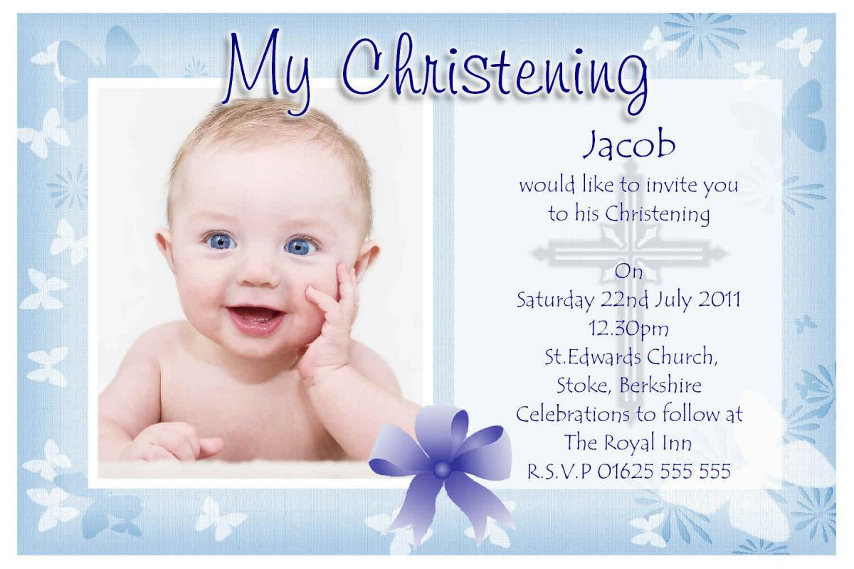 Baptism Invitation Template | Template Business