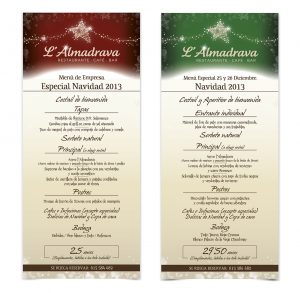 bar menu template menÚs de empresa y navidad lalmadrava