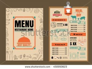 bar menu template stock vector restaurant food menu design with chalkboard background
