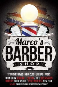 barber shop flyer barbershop flyer
