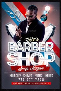 barber shop flyer mikes barber shop flyer template