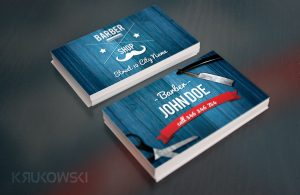 barbershop business cards flyer business card mock up o