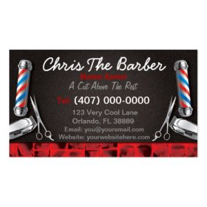 barbershop business cards barbershop business card barber pole and clippers rdeffeefecddf it byvr